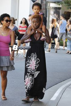 Actress Viola Davis Is Spotted Out With Her Daughter, who she adopted recently. My Black Is Beautiful, Black Love, Beautiful People, Black Girls Rock, Black Girl Magic, Viola Davis, Black Actresses, The Jacksons, Celebrity Moms