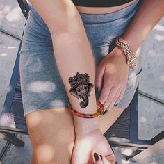 Ganesha Temporary Tattoo Ideas at MyBodiArt