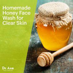 Homemade Honey Face Wash for Clear Skin     1 tbsp coconut oil     3 tbsp honey     1 tbsp apple cider vinegar     20 drops melaleuca essential oil     2 capsules of Live Probiotics
