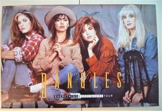 BANGLES * Poster * Everything Everywhere Tour * 1989 * Vintage Original * Susanna Hoffs * Vicki Debbi Peterson Kinds Of Music, My Music, The Bangles Band, Susanna Hoffs, Michael Steele, Band Posters, Freddie Mercury, Etsy Vintage, Vintage Posters
