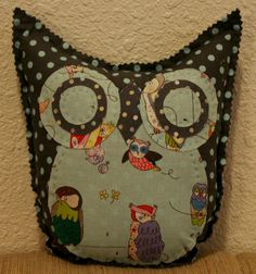 Spotted Owl Friend by makemorefriends on Etsy, $20.00    two of my favorite things: polka dots and alexander henry's spotted owls.