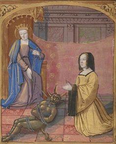 Bibliothèque nationale de France, Département des manuscrits, Français 2225, detail of f. 3v. Louenges à Nostre Dame.  15th century