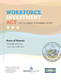 Cover for the Workforce Investment Act Title I-B Annual Performance Report for PY 2010