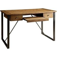 Schevron Mid Century Industrial Rustic Design Home Office Computer/ Writing Desk with Keyboard Drawer - 18724181 - Overstock.com Shopping - Great Deals on Desks