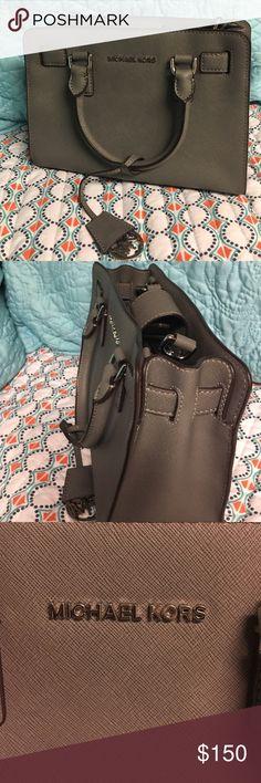 Michael Kors cross body purse Dark gray with silver detailing Michael Kors Bags Crossbody Bags