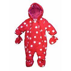 Toby Tiger Baby Snowsuit - Red Spot | MonkeyMcCoy