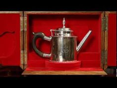 Silver teapot crafted by American patriot Paul Revere