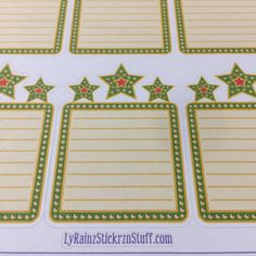 Star Boxes/List for Passion Planner, Happy Planner, Erin Condren, Filofax, Bujo, Kikkik..etc by LyRainzStickrzNStuff on Etsy