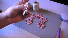 English Paper Piecing Tutorial - Sewing Hexagons Together/Flower
