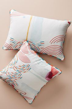 Slide View: 7: Abstract Watercolor Pillow