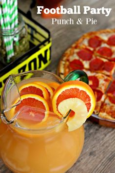 Football Party, Punch, Pizza, and Pie! Discover a recipe for a delicious punch, perfect for your football party! lifesabargain.net... #TeamPizza #cbias ad