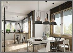 Jídelna s kuchyní - světlo LampGustaf - AUTOGRAF   InHaus Conference Room, Dining Table, Furniture, White Kitchens, Home Decor, Spaces, Decoration Home, Room Decor, Dinner Table