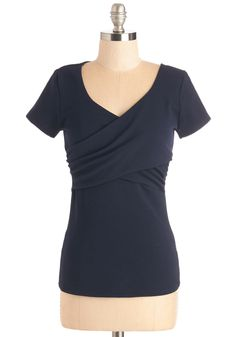 Wrap to It! Top in Navy, @ModCloth