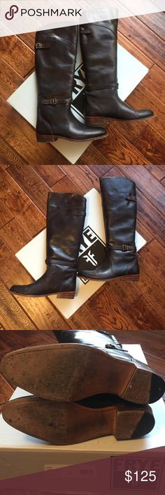 Frye dorado boots Great condition . Timeless style. Fabulous Frye leather! Ships in box Frye Shoes