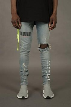 e69e8693dba Skinniest Destroyed Scribbled Stretch Jeans | Fashion | Jeans ...