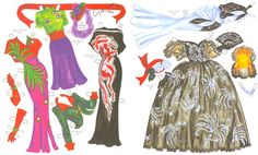 ADRIAN,  Hollywood's Star Designer and Couturier  Paper Dolls by David Wolfe 3