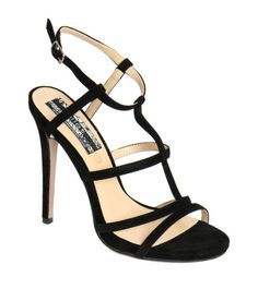 Safiya Strappy High Heel Sandals in Black – pilot