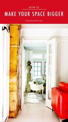 8 Ways to Make a Small Space Seem Bigger // Tall Wooden Cabinet in Living Room Small Space Design, Small Space Living, Living Spaces, Living Room, Tiny Spaces, Small Apartments, Interior Design Tips, Home Interior, Scandinavian Home