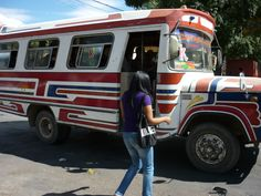 bolivia's transportation: They use a lot of very colorful buses!