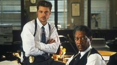 Thriller starring Brad Pitt and Morgan Freeman. Film Seven, Seven 1995, Seven Movie, Brad Pitt, Somerset, David Fincher, Kevin Spacey, Scary Movies, Great Movies