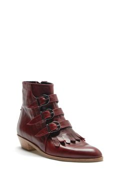 Modern Vice Jett Ankle Boot in Oxblood - Shoes > Boots Shoes Azalea Boutique