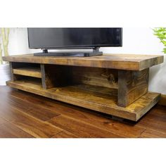 "TV lowboard Denver for TVs up to 32 "" Pallet Tv Stands, Wooden Tv Stands, Solid Wood Tv Stand, Diy Furniture Tv Stand, Tv Furniture, Home Tv, Diy Tv Stand, Stand For Tv, Cool Tv Stands"