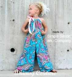 Pillowcase Romper PDF Sewing Pattern NB-10 girls with options by noelia vela