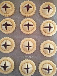 AranyTepsi: Lekváros ravioli süti Mini Tart, Ravioli, Cookie Jars, Biscotti, Food And Drink, Cookies, Cake, Tarts, Crack Crackers