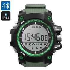 Bluetooth Watch features an abundance of outdoor features such as a pedometer, thermometer, and altimeter - making it the perfect outdoor gadget. Fitness Watches For Men, Bluetooth Watch, Best Smart Watches, Gear Best, Outdoor Gadgets, App Support, Tech Gifts, Electronics Gadgets