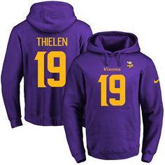Chiefs Patrick Mahomes II 15 jersey Nike Vikings  19 Adam Thielen  Purple(Gold No 3c75985fb