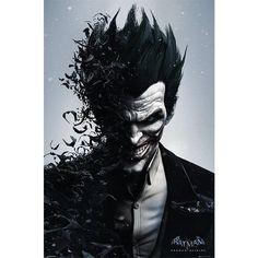 """Poster verticale """"Arkham Origins - Joker"""" di #Batman. Dimensioni: 61 x 91,5 cm."""