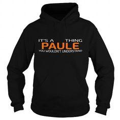 nice PAULE name on t shirt