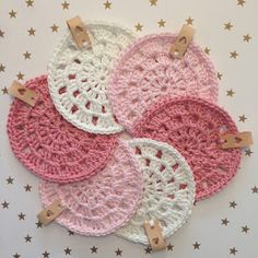 Handmade by E★: Onderzetters haken Crochet Earrings, Doilies, Couture, Coasters, Knitting, Sewing, Babyshower, Christmas, Diy