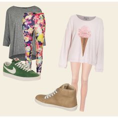 """oversized shirt with leggings"" by zoe15598 on Polyvore"
