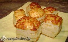 Sajtos-túrós pogácsa recept fotóval Hungarian Recipes, Hungarian Food, Scones, Sushi, Sandwiches, Muffin, Rolls, Dairy, Favorite Recipes
