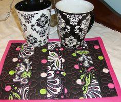 mug rug - LOVE the colors!