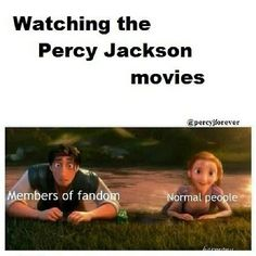 Watching the Percy Jackson movies | PJO Tangled