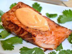 teriyaki salmon with sriracha mayo - Budget Bytes