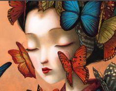 """Képtalálat a következőre: """"benjamin lacombe madame butterfly"""" Madame Butterfly, Butterfly Art, Butterflies, Foto Art, Pop Surrealism, Oeuvre D'art, Illustrators, Fantasy Art, Street Art"""