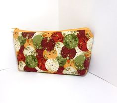 Medium Zipper Pouch  Wine Creamsicle and by handjstarcreations, $9.50