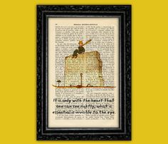 The Little Prince Nº15 Book Art Print - Le Petit Prince Gift Nursery Dictionary Art Poster Book Decor Dorm Room Wall Exupéry Deco