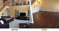 """""""The previous flooring was a combination of tile, carpet and laminate. We are extremely happy with the results. Its exactly what we wanted - each room flowing into the next."""" - Katie, OH"""