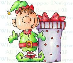 Elfin - Christmas Images - Christmas - Rubber Stamps - Shop