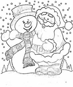 Cute Coloring Pages, Christmas Coloring Pages, Coloring Books, Christmas Colors, Christmas Art, Christmas Projects, Embroidery Patterns, Hand Embroidery, Simple Flower Drawing