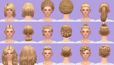 Get to Work hairs base game at Pickypikachu via Sims 4 Updates