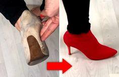 ¡Reciclar zapatos! En este video puedes encontrar una idea estupenda para que puedas reciclar tus zapatos absolutamente viejos y vas a tener unos botines nuevos. Si tienes unos zapatos viejos que quieras reciclar y darles un nuevo aspecto completamente diferente y muy divertido, ¡no te pierda