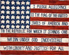 Pledge Flag  Happy July 4th