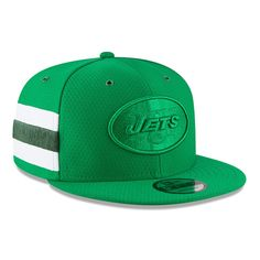 New York Jets New Era 2018 NFL Sideline Color Rush Official Snapback  Adjustable Hat – Kelly Green. NFL Caps   Hats 795f6b19b