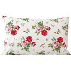 Cath Kidston Antique Rose Bouquet Pillowcase - White ($21) ❤ liked on Polyvore featuring home, bed & bath, bedding, bed sheets, pillows, multi, cath kidston, king pillowcase, super king bedding и cath kidston bedding