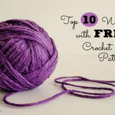 If you& looking for free crochet patterns, you& in luck. Check out this list of the top 10 websites with free crochet patterns at Sparkles of Sunshine. Knit Or Crochet, Learn To Crochet, Single Crochet, Crochet Stitches, Free Crochet, Knitted Hat, Knitting Patterns Free, Free Knitting, Free Pattern